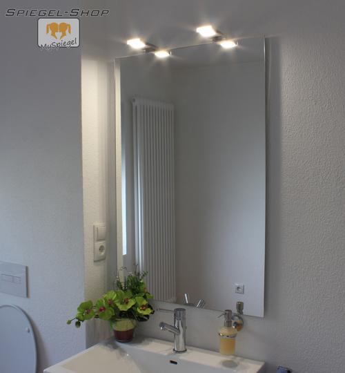 bran led leucht lampe beleuchteter spiegel mit steilfacette 60x80cm 2 lampen. Black Bedroom Furniture Sets. Home Design Ideas