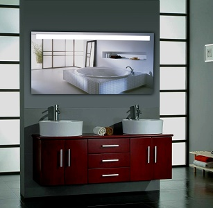 forte square i badspiegel neon 140 x 70 xl neu ebay. Black Bedroom Furniture Sets. Home Design Ideas