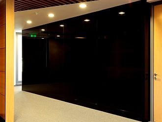 lacobel classic black - einseitig schwarz lackiertes glas 6mm fÜr ... - Lackiertes Glas Küchenrückwand