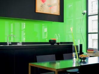 lacobel luminous green einseitig gr n lackiertes glas 6mm f r k che bad ebay. Black Bedroom Furniture Sets. Home Design Ideas