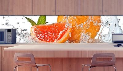 k chenr ckwand grapefruit splash sicherheitsglas fliesenspiegel spritzschutz ebay. Black Bedroom Furniture Sets. Home Design Ideas
