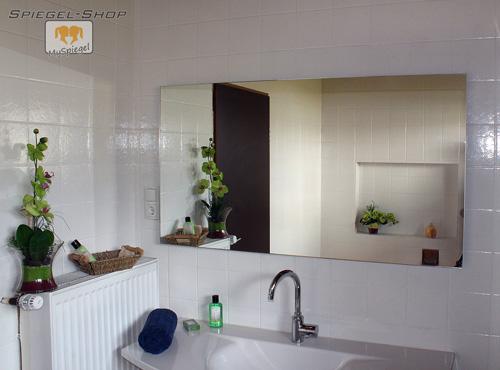 wandspiegel 60x120cm badspiegel spiegel rahmenloser kristallspiegel 25mm facette ebay. Black Bedroom Furniture Sets. Home Design Ideas