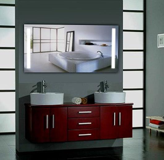 Led badspiegel spiegel nach ma mit beleuchtung for Wandspiegel rahmenlos