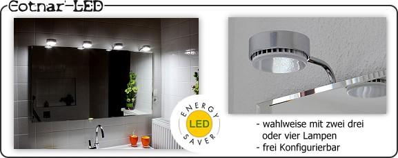 Myspiegel De Badspiegel Mit Aufgesetzten Lampen