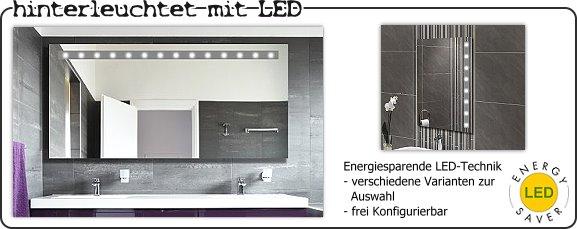 Badspiegel mit aufgesetzten lampen - Badspiegel led hinterleuchtet ...
