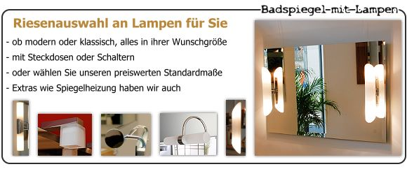 badspiegel f r badezimmer nach ma online. Black Bedroom Furniture Sets. Home Design Ideas