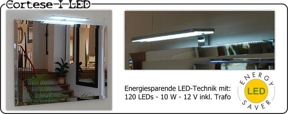 badspiegel mit aufgesetzten lampen. Black Bedroom Furniture Sets. Home Design Ideas