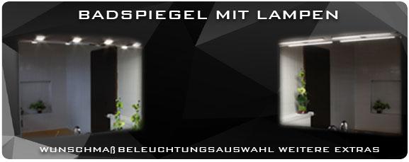 Badezimmerspiegel mit Lampen