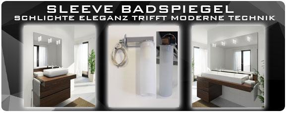 MySpiegel.de - Badspiegel mit aufgesetzten Lampen