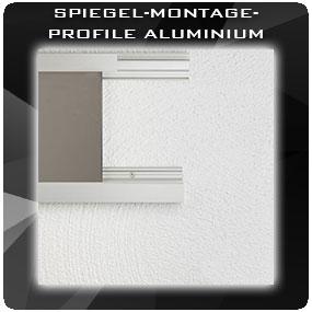 Spiegel-Montage-Profile ALUMINIUM