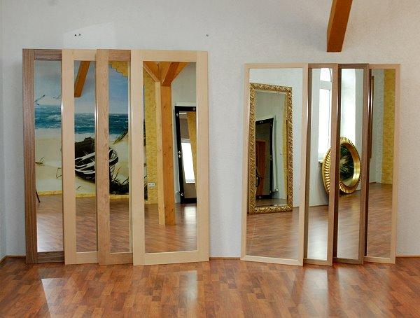 echtholzfurnier spiegel mit 6 8 cm rahmenbreite. Black Bedroom Furniture Sets. Home Design Ideas