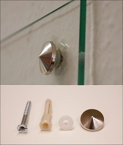 Glas Befestigung glas spiegel befestigung inkl 4 lochbohrungen